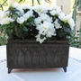 white azalea in Jugendstil container