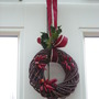 chilli wreath for Christmas