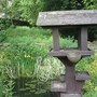 Bird table by the pond (Lynwood gardens)