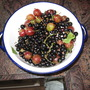 blackcurrants and gooseberries from the garden