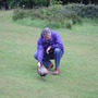 Michael making friends with a pheasant