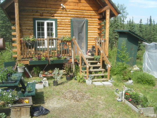 Front of the Cabin June '10