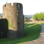A walk along Caerphilly Castle