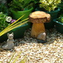 Wooden Mushroom Stool