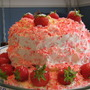 Another version of the DOLE Pineapple Strawberry LUSH Angel Food cake made with seasonal berries.