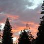 Camping evening sky