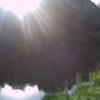 Sun setting river severn