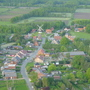 view of Flanders (not Holland ;-)    from a hot air balloon - May 2004