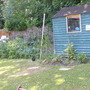 veg bed and shed