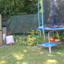 other side of trampoline