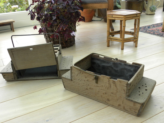 two very old wooden boxes - see previous photos