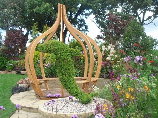 Jackie Kinight Landscapes display garden