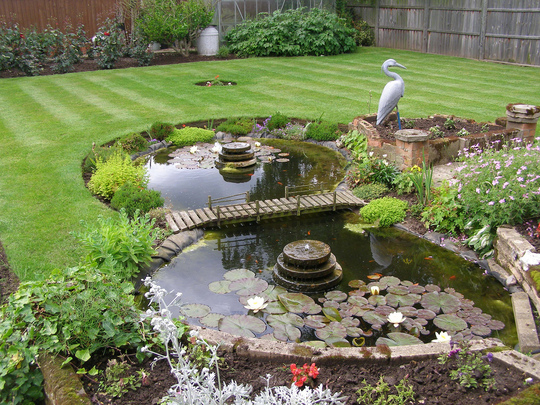 Pond I built for a customer