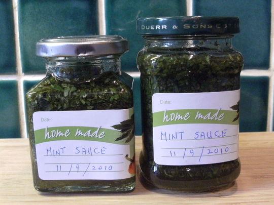 Home made bottled Mint Sauce