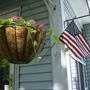 Hanging Basket & flag