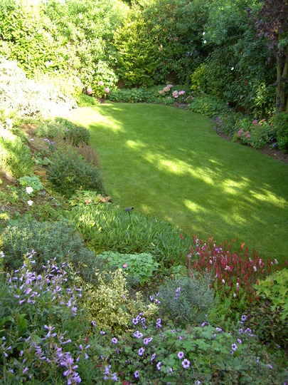 The bottom garden &amp; slope
