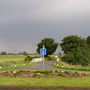 Guerilla gardening! - Roundabout at the entrance to the village where I live