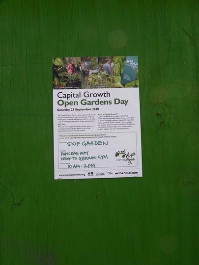 Capital Growth London's Open Gardens Day -Skip Garden at Kings Cross