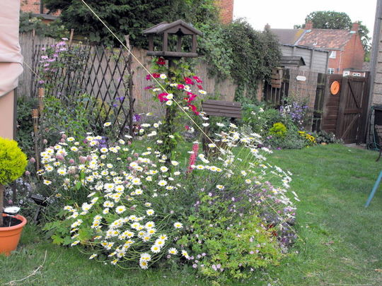 Different Angle Of Bird Table Summer Border
