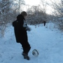 kick about in the snow