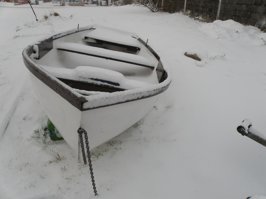 my trout fishing boat  waiting for next season