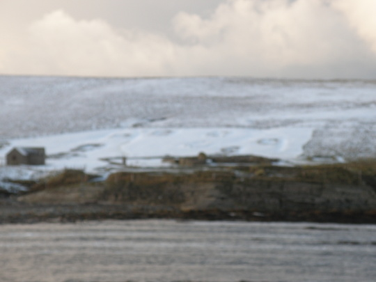 remains of viking settlement showing up in the snow