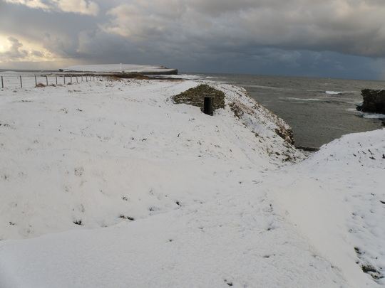 old fishermans shelter  at birsay
