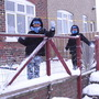 Twins covered with snow (28)