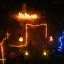 xmas lights back garden
