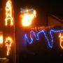 xmas lights front garden