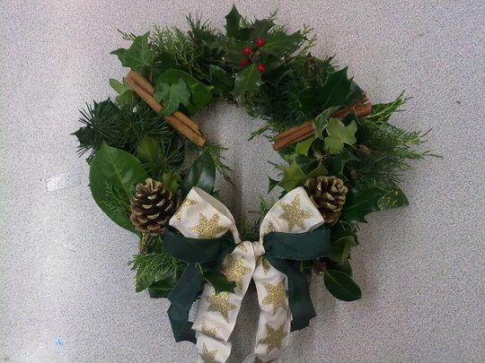 Christmas wreath i made for a friend.