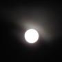 Full moon in the dark sky