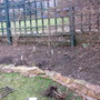 The bed on the top right of the slope garden before I planted the heucheras