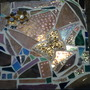 Sparkly butterfly mosaic
