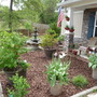 my front garden after mulching