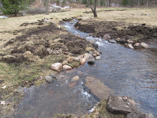 widening the stream and adding a small offset ...a pond!