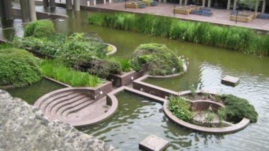 Barbican Pools in July