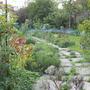 Down the garden path.
