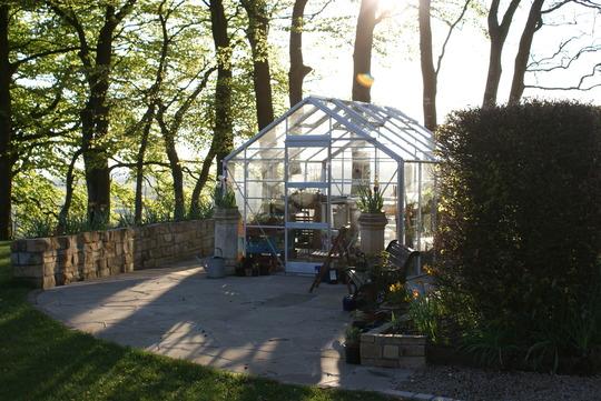 Greenhouse patio