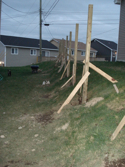 Fence going up! Once up, I will be putting in a rock ...