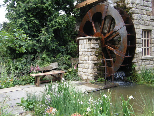Water Wheel Garden.