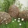 Wonderful egg sculptures...I want them!!!