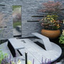 Clever seating and water feature...