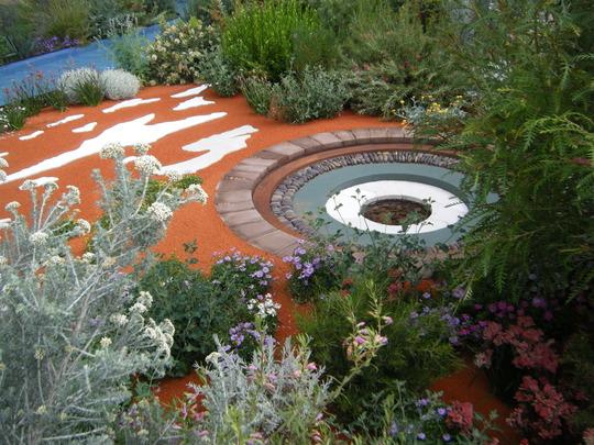Australian waterhole..Chelsea flower show 2011