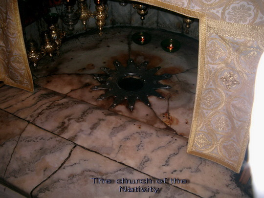 The Church of the nativity,where Jesus was born.