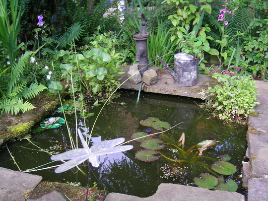 Recycled pond bet you carnt gess wot it for Koi in paddling pool