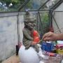 painting a garden elf