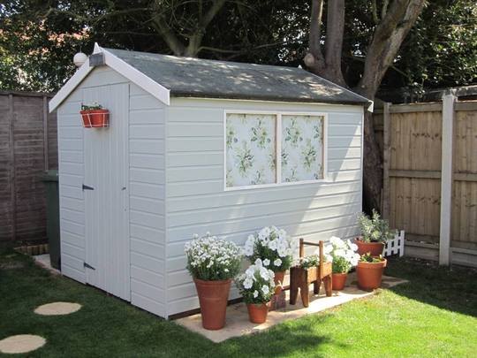 Shed with Laura Ashley Vintage Fabric