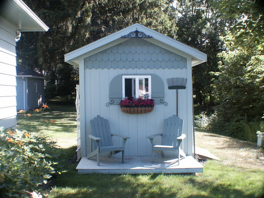 The backyard potting shed/folly