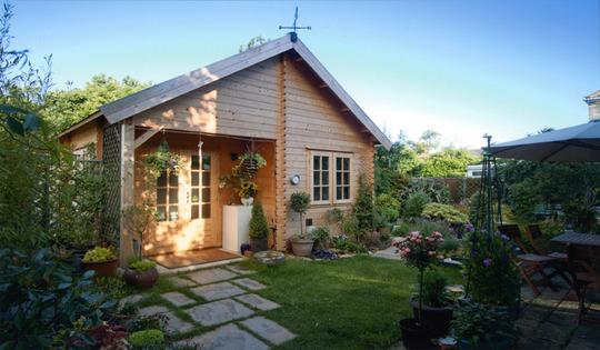The cabin in June.